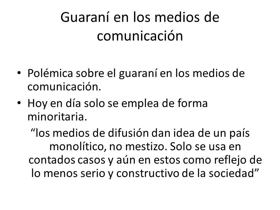Guaraní en los medios de comunicación