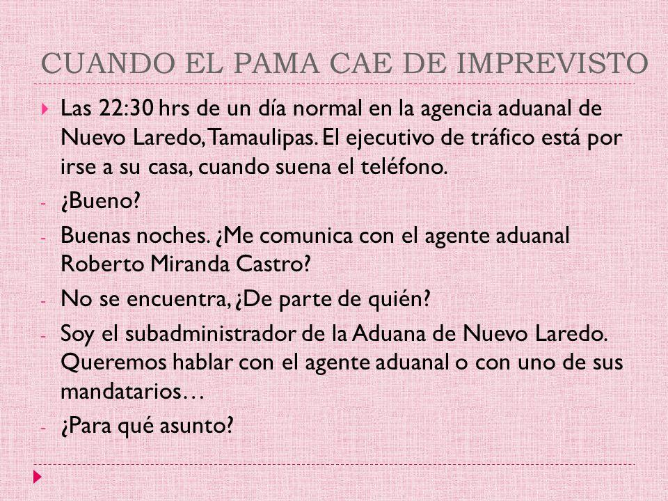 CUANDO EL PAMA CAE DE IMPREVISTO