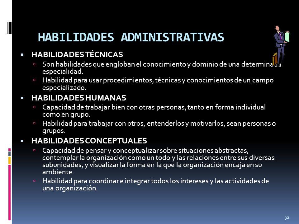 HABILIDADES ADMINISTRATIVAS