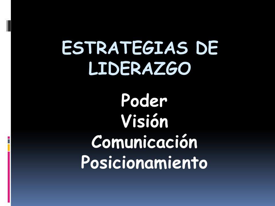 ESTRATEGIAS DE LIDERAZGO