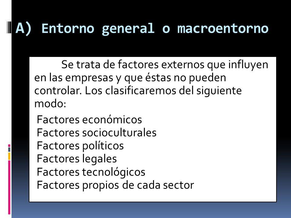 A) Entorno general o macroentorno