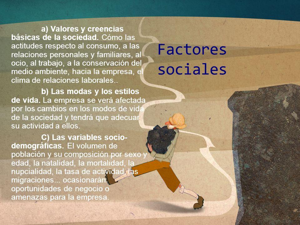 a) Valores y creencias básicas de la sociedad