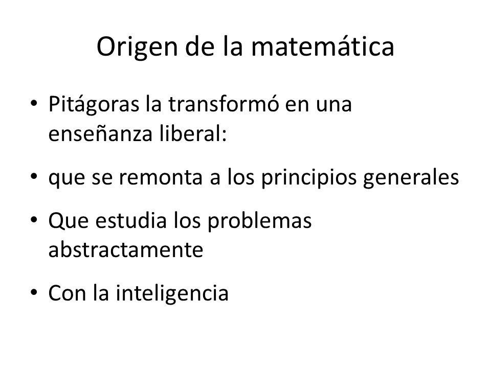 Origen de la matemática