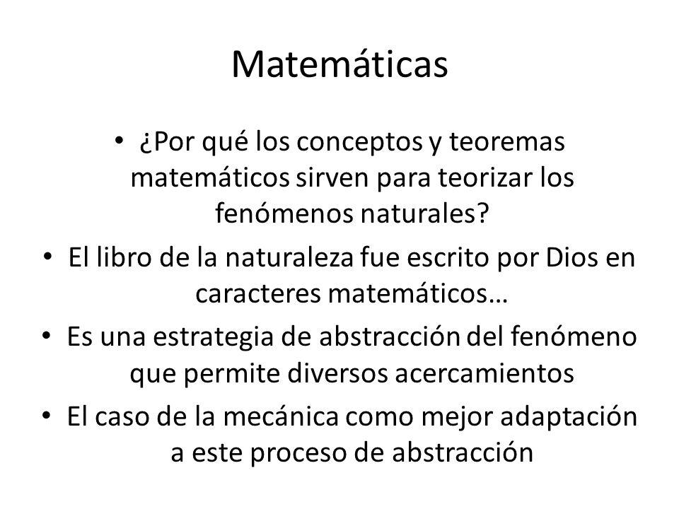 Matemáticas ¿Por qué los conceptos y teoremas matemáticos sirven para teorizar los fenómenos naturales