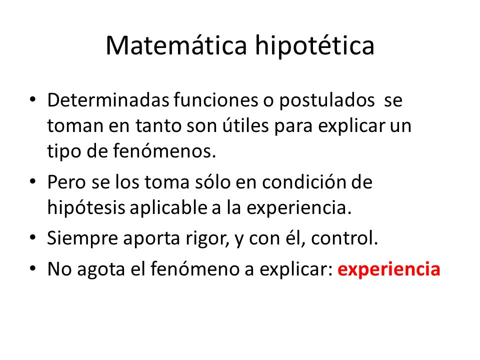 Matemática hipotética