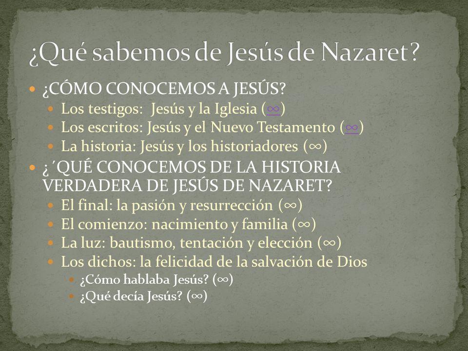 ¿Qué sabemos de Jesús de Nazaret