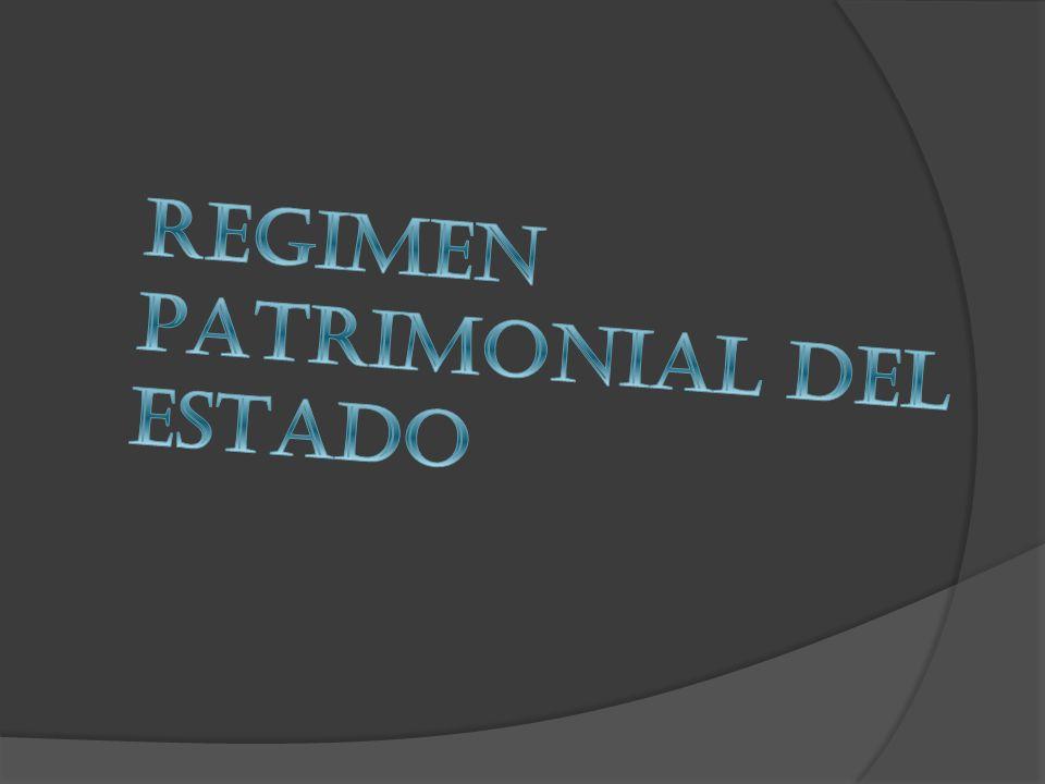 REGIMEN PATRIMONIAL DEL ESTADO