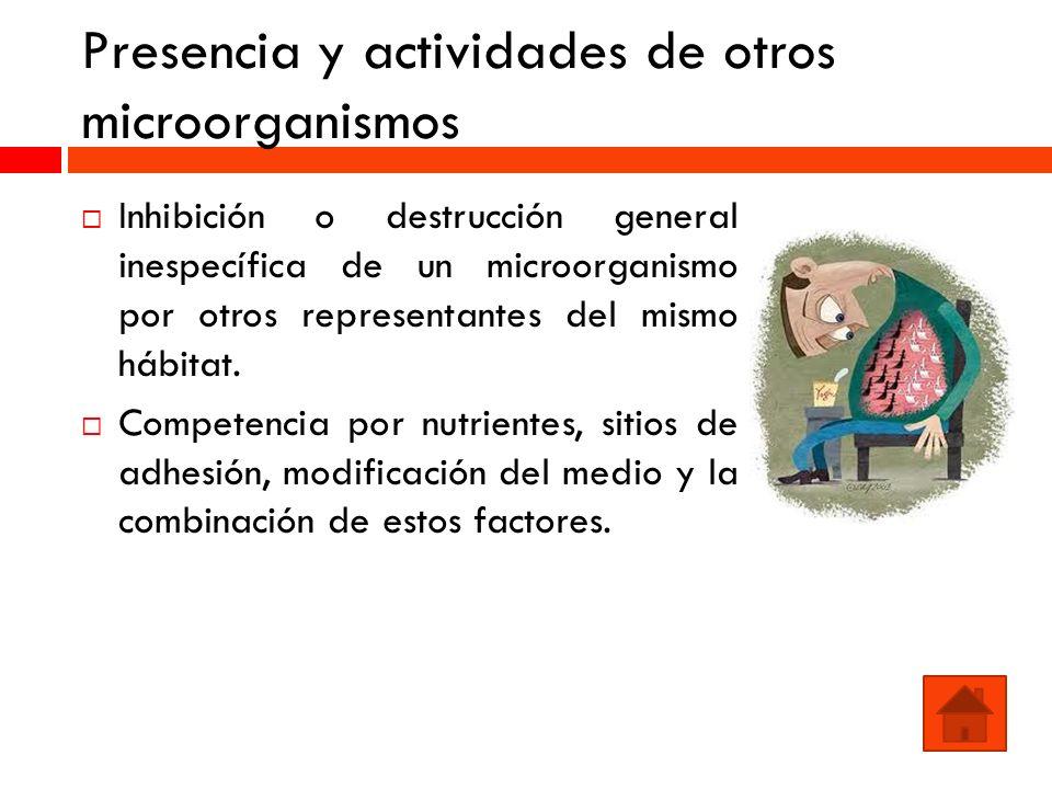 Presencia y actividades de otros microorganismos