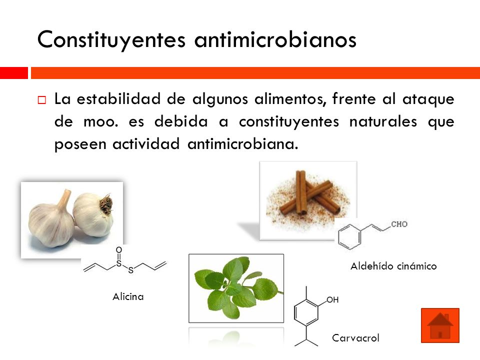 Constituyentes antimicrobianos