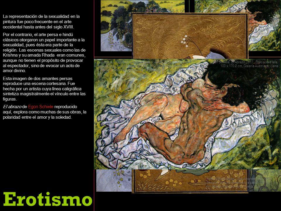 La representación de la sexualidad en la pintura fue poco frecuente en el arte occidental hasta antes del siglo XVIII.