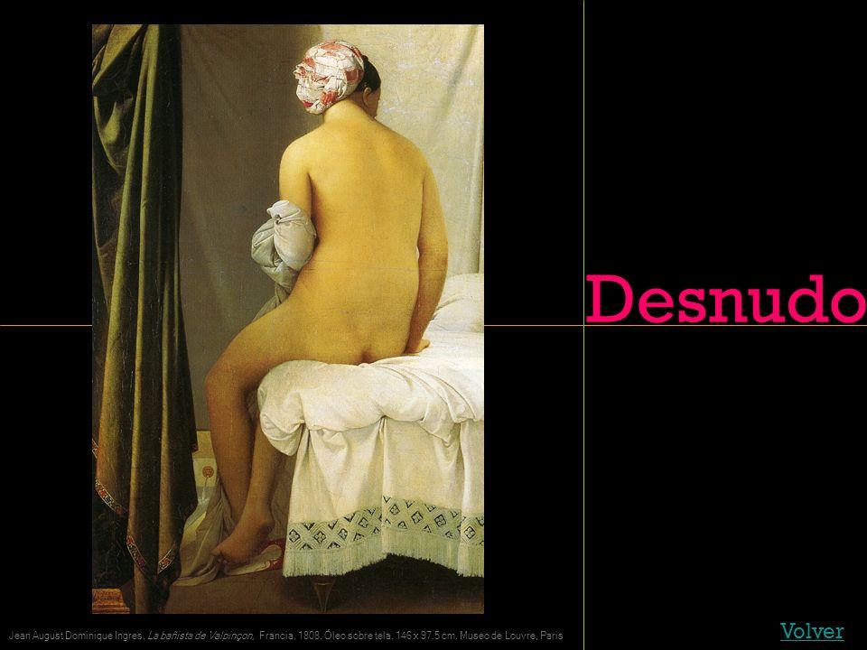Desnudo Volver. Jean August Dominique Ingres, La bañista de Valpinçon, Francia, 1808.