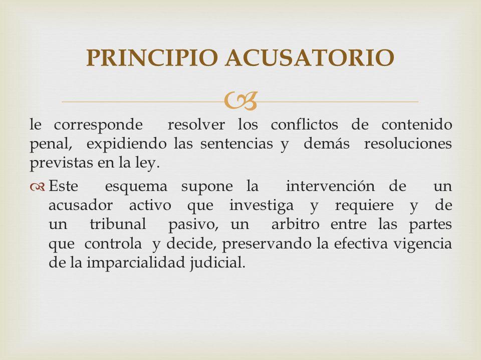 PRINCIPIO ACUSATORIO