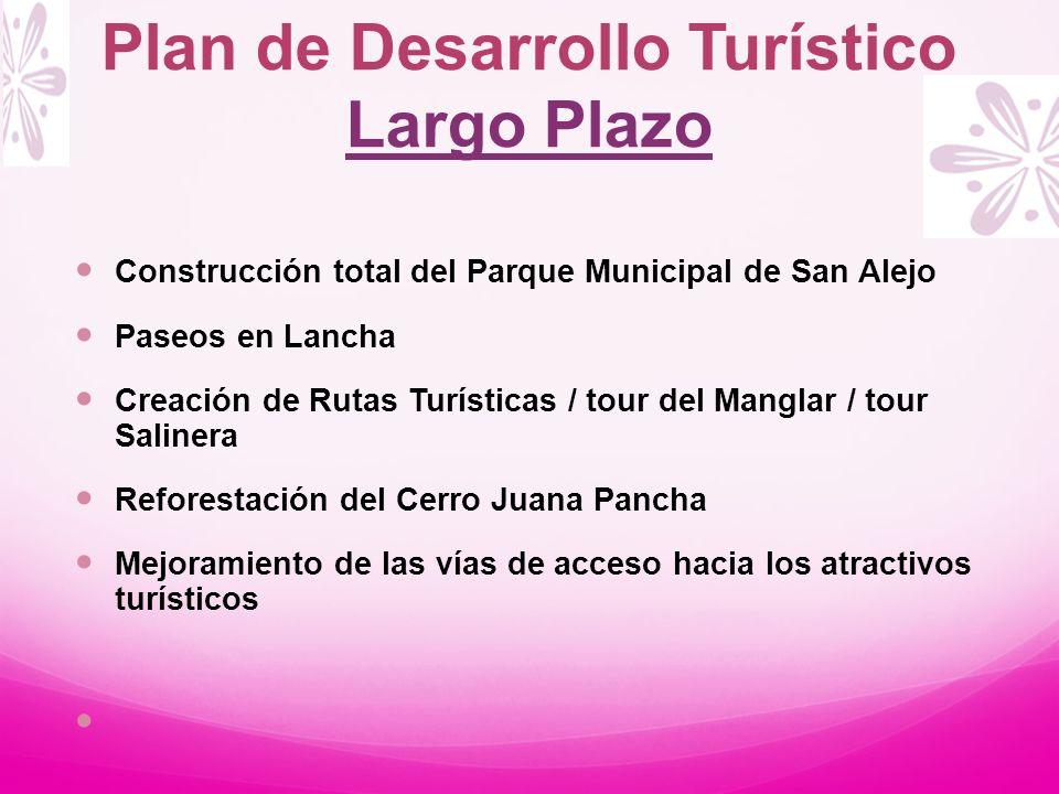 Plan de Desarrollo Turístico Largo Plazo