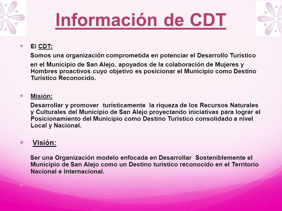 Información de CDT Visión: EI CDT: