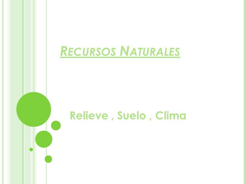 Recursos Naturales Relieve , Suelo , Clima