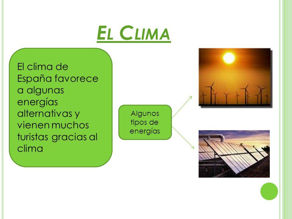 Algunos tipos de energías