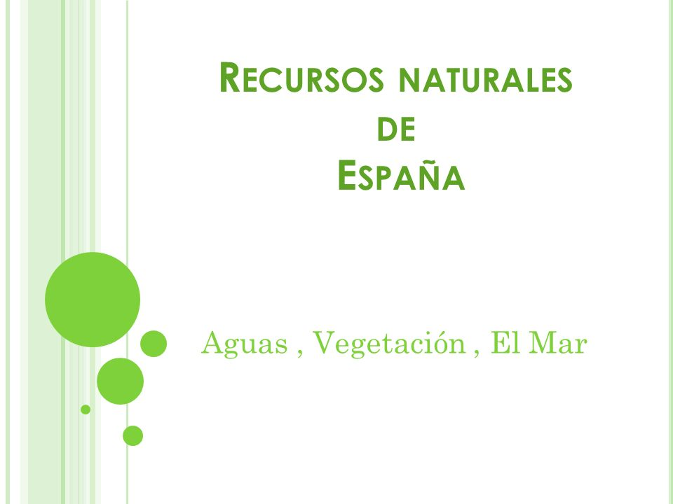 Recursos naturales de España