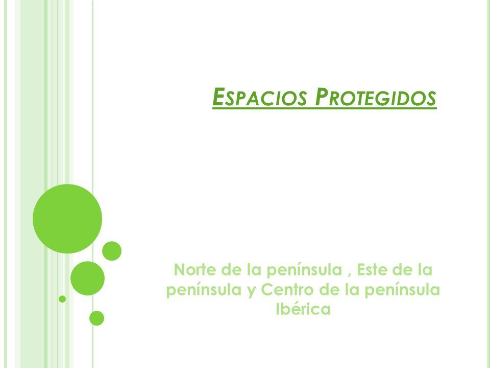 Espacios Protegidos Norte de la península , Este de la península y Centro de la península Ibérica