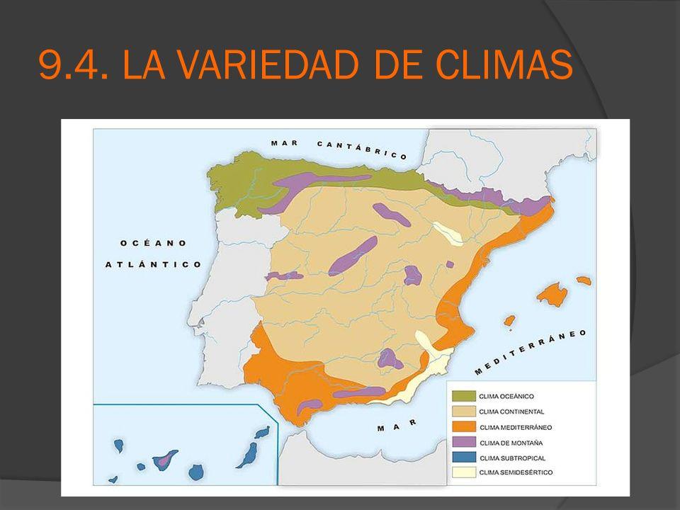 9.4. LA VARIEDAD DE CLIMAS