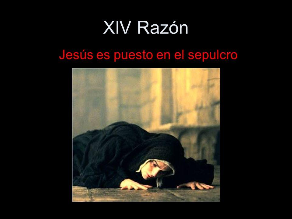 Jesús es puesto en el sepulcro