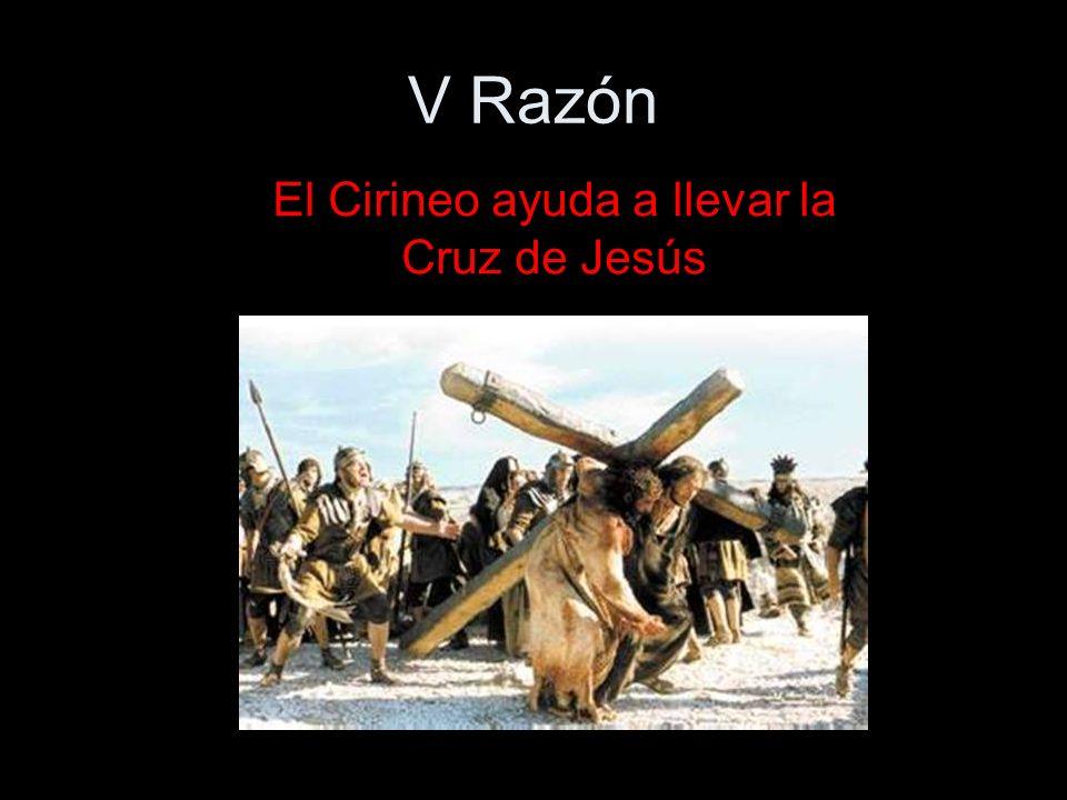 El Cirineo ayuda a llevar la Cruz de Jesús