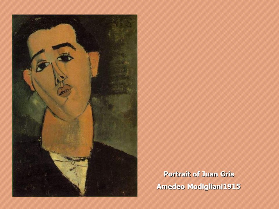 Portrait of Juan Gris Amedeo Modigliani 1915
