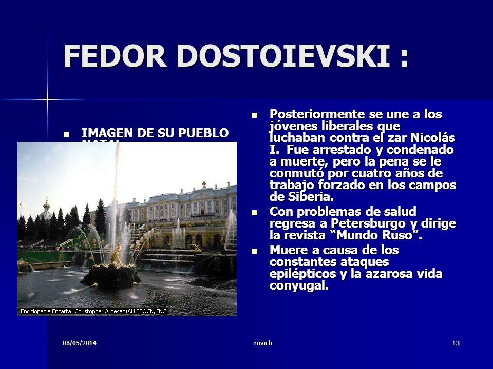 FEDOR DOSTOIEVSKI :