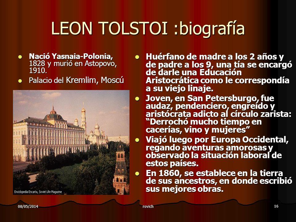 LEON TOLSTOI :biografía
