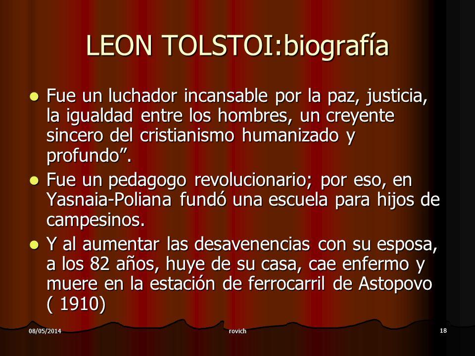 LEON TOLSTOI:biografía