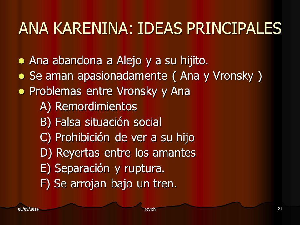 ANA KARENINA: IDEAS PRINCIPALES