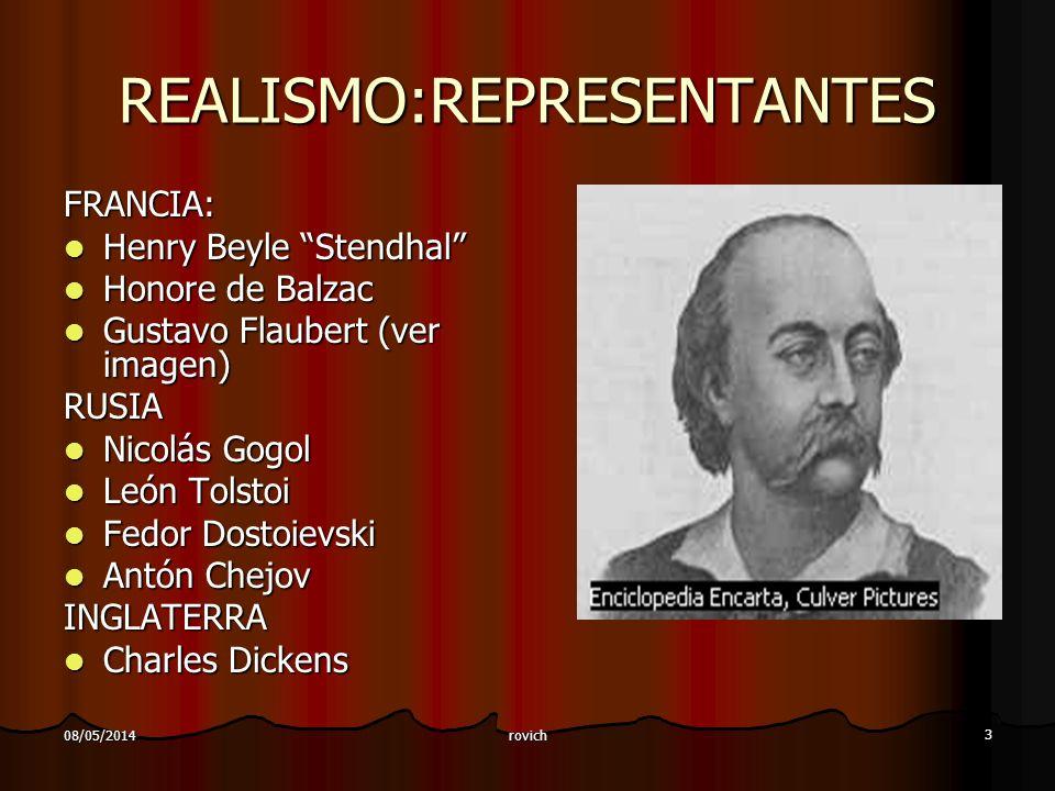 REALISMO:REPRESENTANTES
