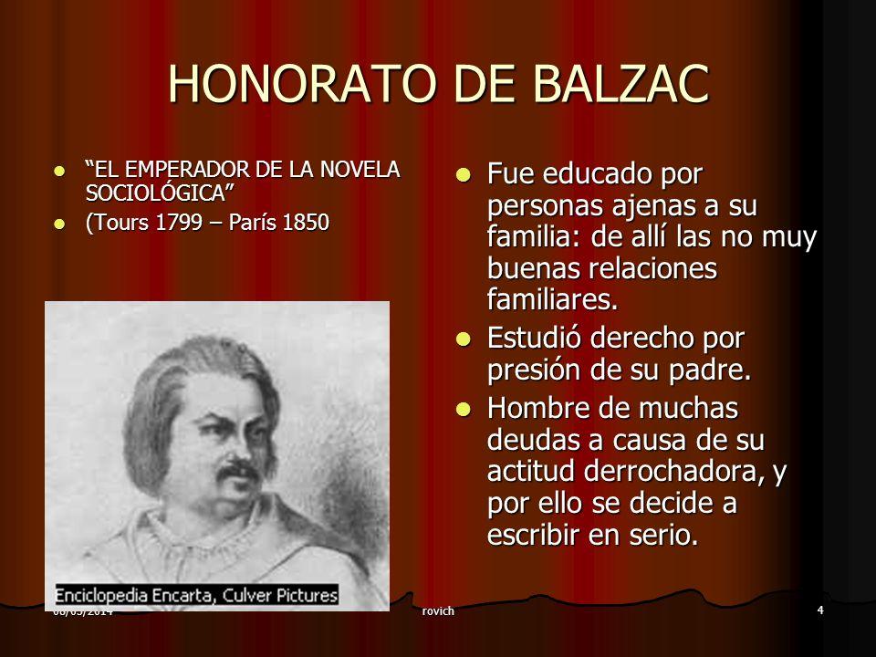 HONORATO DE BALZAC EL EMPERADOR DE LA NOVELA SOCIOLÓGICA (Tours 1799 – París 1850.