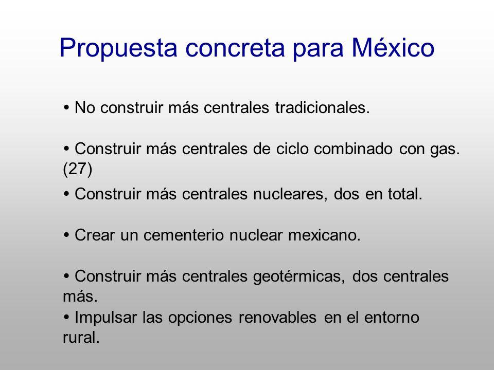 Propuesta concreta para México