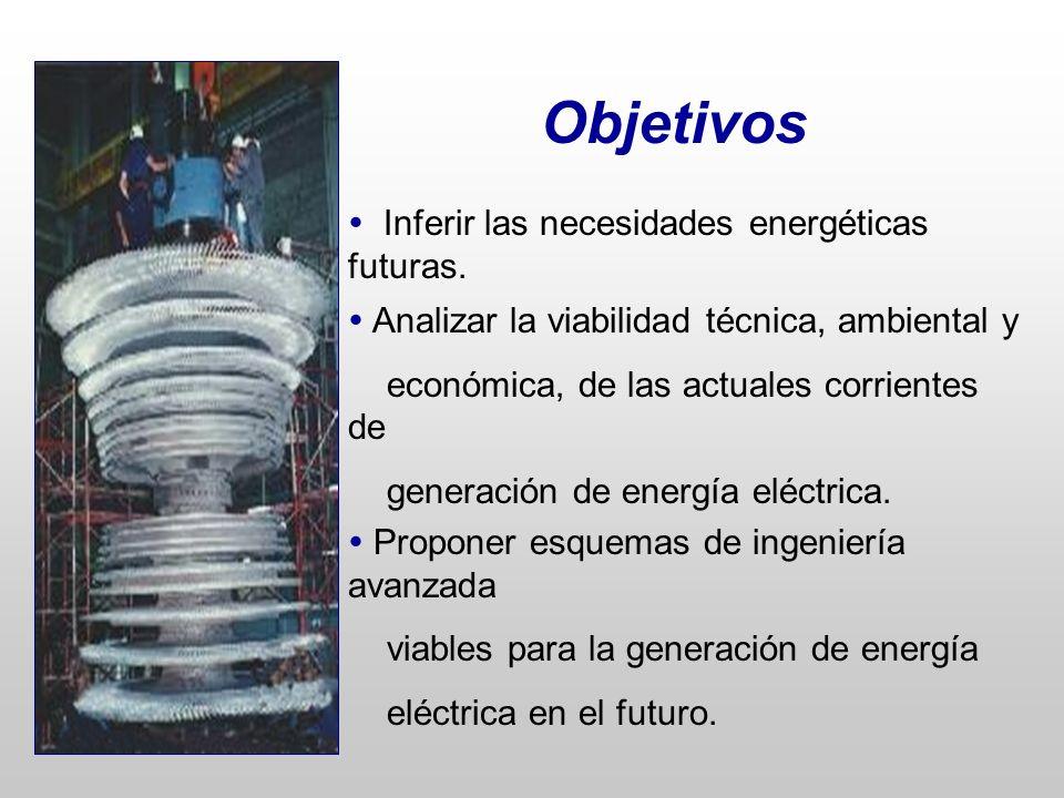 Objetivos  Inferir las necesidades energéticas futuras.