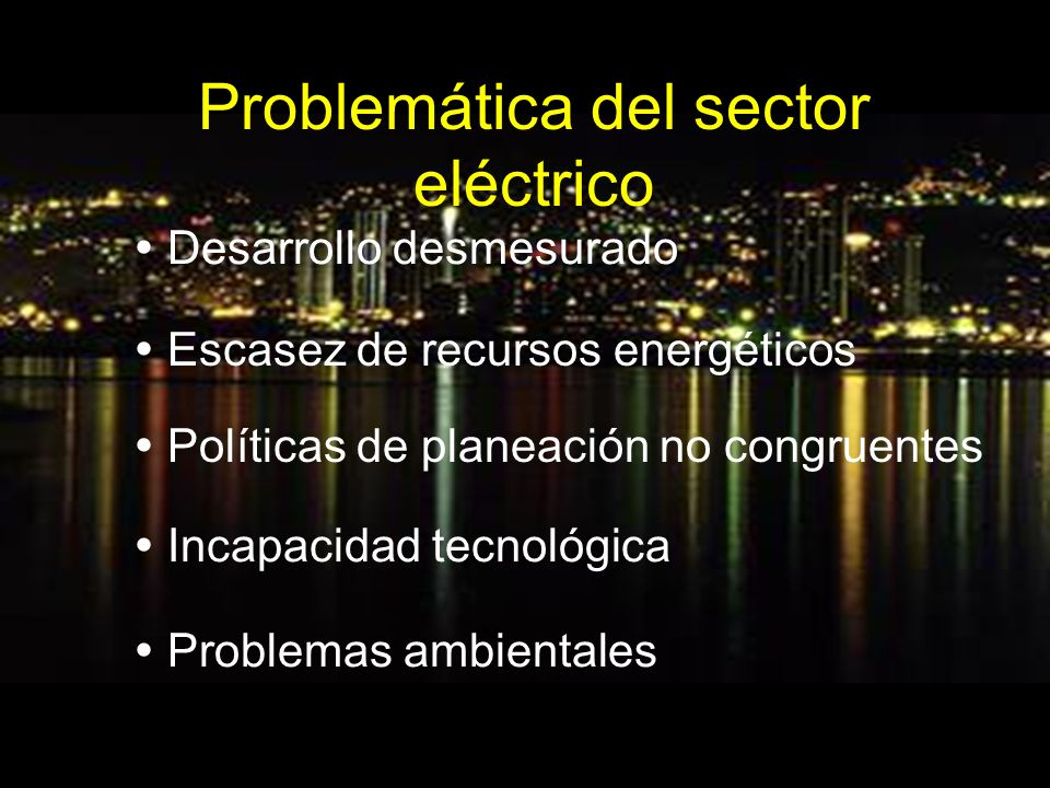 Problemática del sector eléctrico