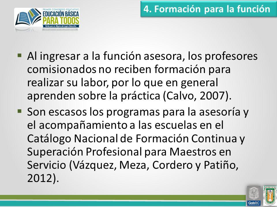 4. Formación para la función