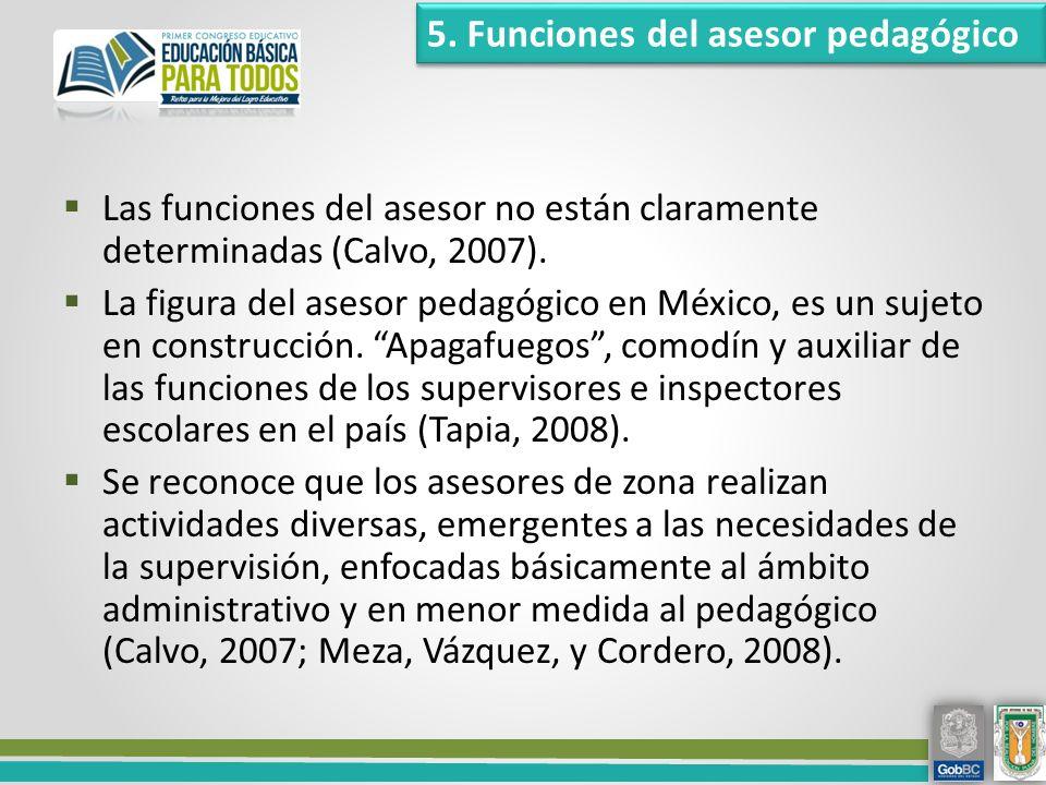 5. Funciones del asesor pedagógico