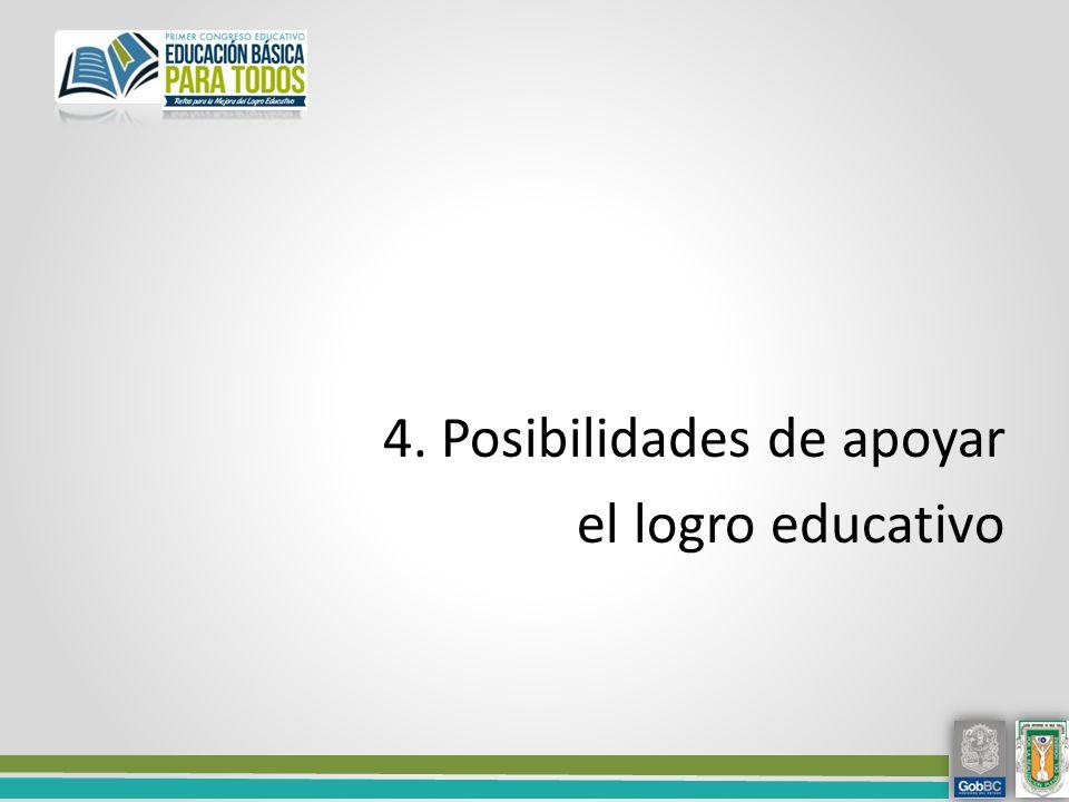 4. Posibilidades de apoyar el logro educativo