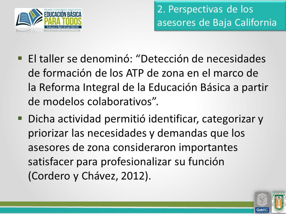 2. Perspectivas de los asesores de Baja California