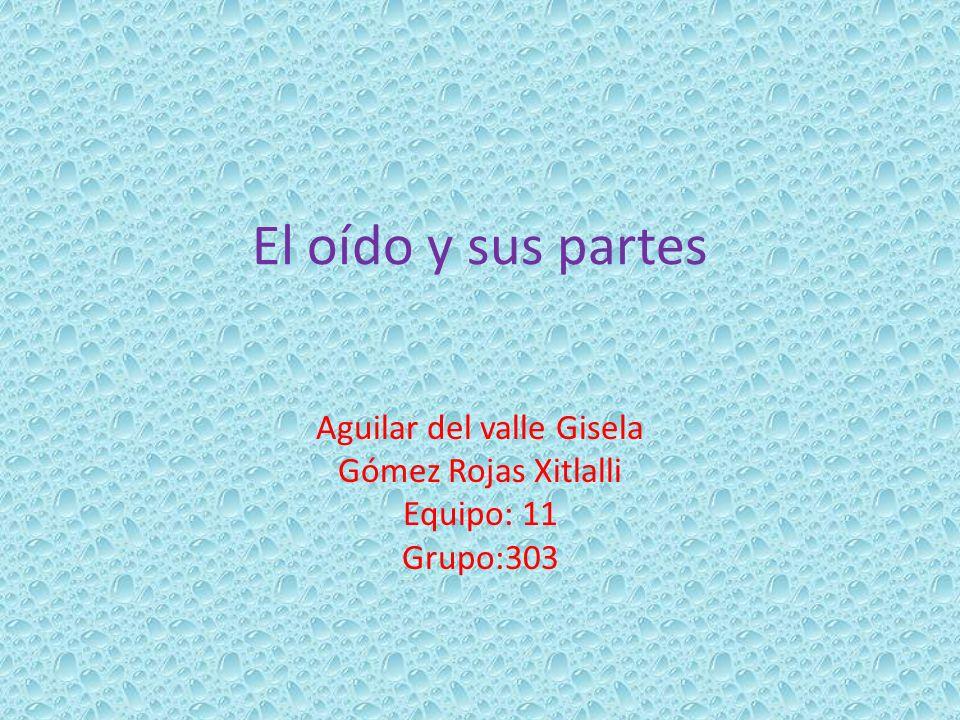 Aguilar del valle Gisela Gómez Rojas Xitlalli Equipo: 11 Grupo:303