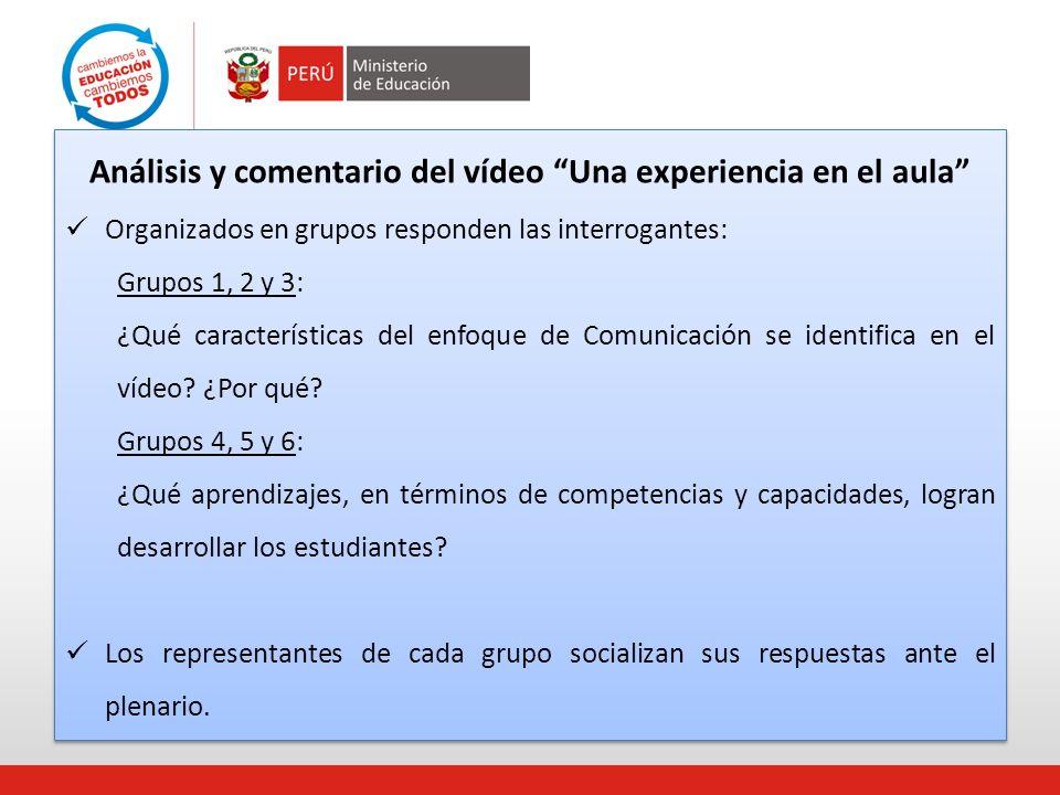 Análisis y comentario del vídeo Una experiencia en el aula