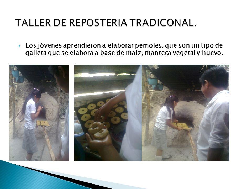 TALLER DE REPOSTERIA TRADICONAL.