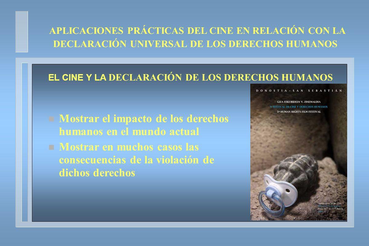 EL CINE Y LA DECLARACIÓN DE LOS DERECHOS HUMANOS