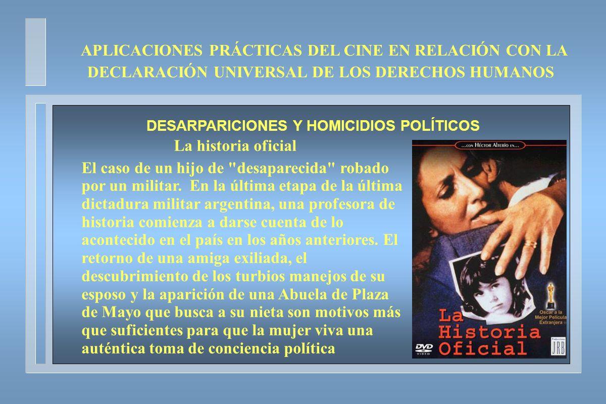 DESARPARICIONES Y HOMICIDIOS POLÍTICOS