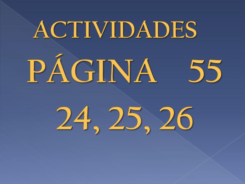 ACTIVIDADES PÁGINA 55 24, 25, 26