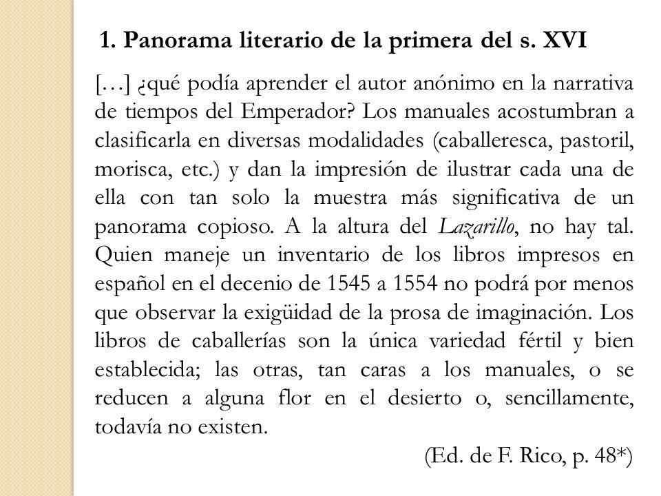 1. Panorama literario de la primera del s. XVI