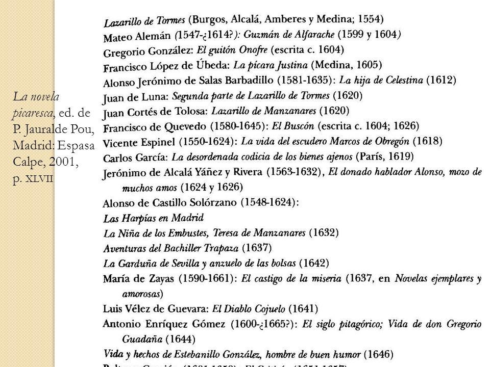 La novela picaresca, ed. de