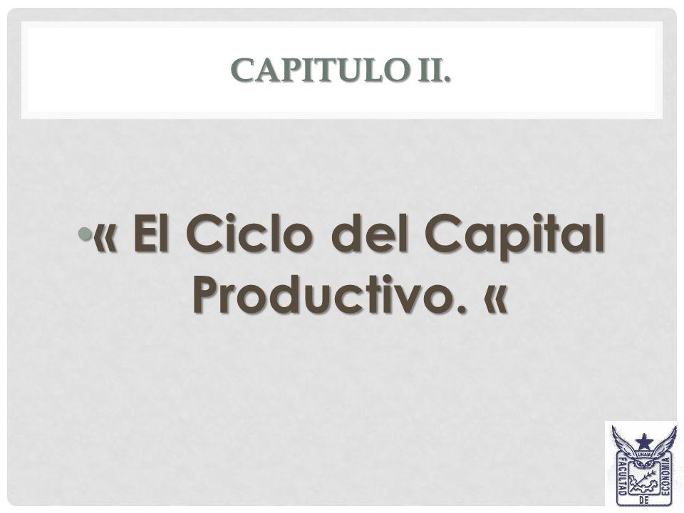 « El Ciclo del Capital Productivo. «