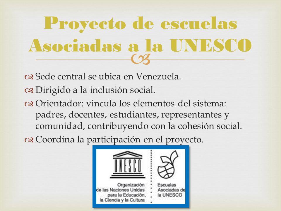 Proyecto de escuelas Asociadas a la UNESCO