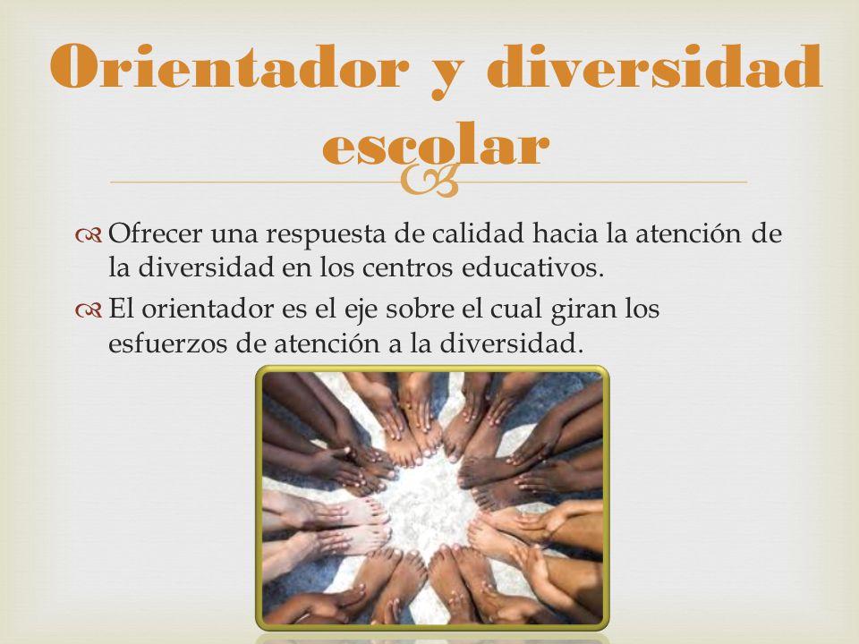 Orientador y diversidad escolar